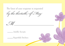 Whimsy Lavender Canary Plumeria RSVP Cards