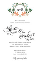 Eclectic Floral Monogram Wedding Shower Invitations