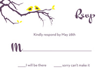 Love Birds In A Tree RSVP Cards