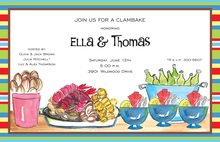 Exciting Traditional Clambake Color Invitations
