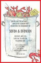 Watercolor Stylish Crawfish Pot Invitations