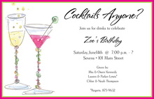 Cool Cocktails Party Theme Invitations