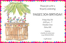 Traditional Exotic Tiki Bar Invitations