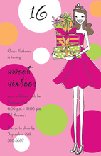 Queen Sweet 16 Invitations