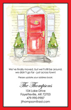 Holiday Red Door Invitation
