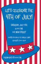 Traditional USA Patriotic Hat Invitations