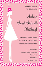 Party Hat Silhouette Girl Invitations