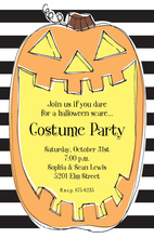 Smiley Pumpkin Halloween Invitations