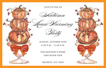 Pumpkin Topiary Invitations