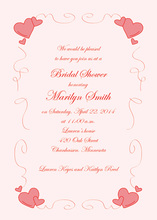 Lovely Playtime Subtle Fancy Pink Invitations