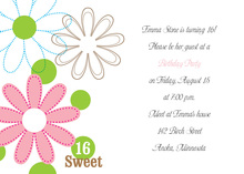 Distinct Blossoms Invitation
