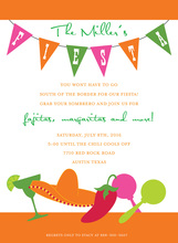 Freshly Fun Fiesta Party Invitations