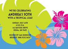 Tropical Aloha Invitations