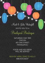 Multi-color Summer Lantern Bright Lights Invitations