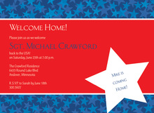 Patriotic Welcome Home Stars Invitation