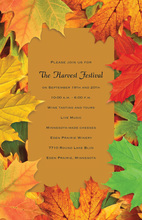 Charming Fall Festival Celebration Autumn Invites