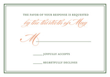 Eclectic Floral Monogram RSVP Cards