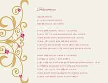 Gold Floral Filigree Enclosure Cards