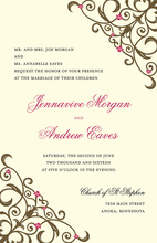 Detailed Brown Floral Filigree Invitations