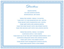 Layered Blue Vintage Borders Enclosure Cards