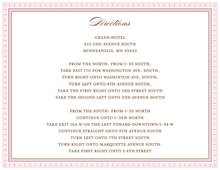 Layered Pink Vintage Borders Enclosure Cards