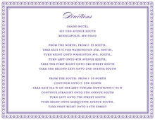 Layered Purple Vintage Borders Enclosure Cards
