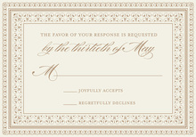 Layered Brown Vintage Borders RSVP Cards