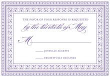 Layered Purple Vintage Borders RSVP Cards