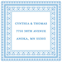 Layered Blue Vintage Borders Stickers