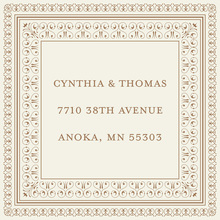 Layered Brown Vintage Borders Stickers