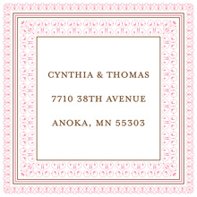 Layered Pink Vintage Borders Stickers