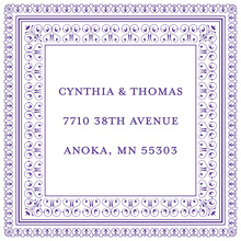 Layered Purple Vintage Borders Stickers
