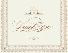 Layered Brown Vintage Borders Thank You Cards