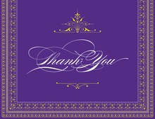 Layered Purple Vintage Borders Thank You Cards
