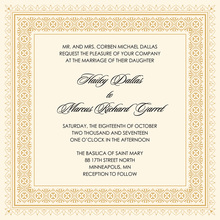 Gold Deco Tile Borders Invitation