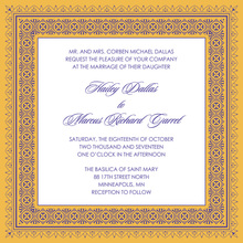 Yellow Deco Tile Borders Invitation