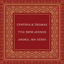 Dark Red Gold Deco Tile Borders Stickers