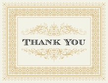 Gold Deco Tile Borders Thank You Cards