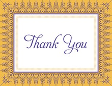 Mustard Nouveau Frame Thank You Cards