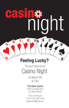 Casino Night Chips Game Cards Invitation