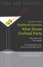 Featuring Cocktail Party Martini Invitations