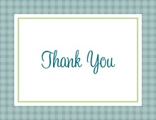 Green & Blue Plaid Thank You Cards