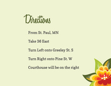Floral Banner Pale Green Enclosure Cards
