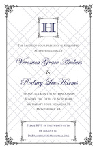 Wraught Iron Frame Blue Invitations