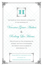 Wraught Iron Frame Turquoise Invitations