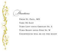 Elegant Floral Gold Enclosure Cards