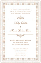 Layered Brown Vintage Borders Invitation