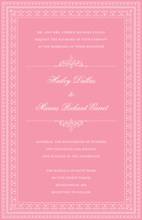 Layered Pink Vintage Borders Invitation