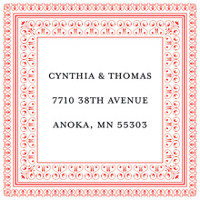 Layered Red Vintage Borders Stickers