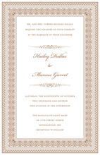 Formal Brown Greek Key Frame Invitations